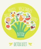 Ilustração do vetor da dieta da desintoxicação.