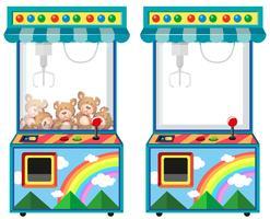 Máquina de jogo de arcade com bonecas vetor