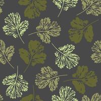Resumo Outono padrão sem emenda com folhas. vetor