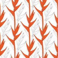 padrão sem emenda helicônia fundo abstrato da flor. Ilustração em vetor linha arte para design de tecido têxtil