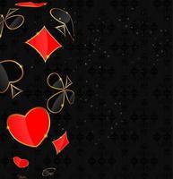 abstrato com cartão ternos para o projeto. ilustração vetorial. vetor
