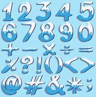 Números coloridos e símbolos vetor