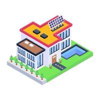 casa solar moderna vetor