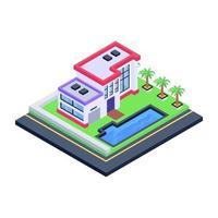 mansão e casa moderna vetor