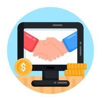 negócio financeiro e comercial vetor