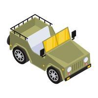 jipe do exército e transporte vetor