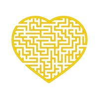 labirinto de cor em forma de coração. jogo para crianças e adultos. encontre o caminho certo. quebra-cabeça para crianças. enigma do labirinto. ilustração em vetor plana isolada no fundo branco.