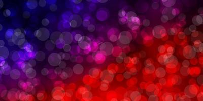 pano de fundo vector azul e vermelho escuro com pontos.