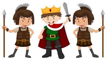 Príncipe e dois cavaleiros vetor