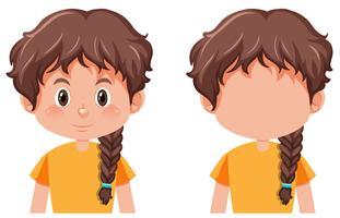 Uma garota com tranças penteado vetor
