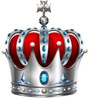 Coroa de prata em branco vetor