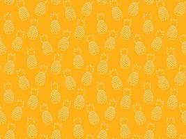 padrão de repetição sem emenda de plantas de abacaxi. projeto do teste padrão tropical de frutas. papel de parede moderno minimalista abstrato. ilustração do vetor de fundo. amarelo e branco.