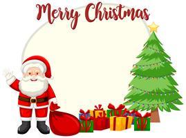 Modelo de cartão de feliz Natal vetor