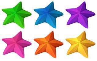 Estrelas do mar coloridas vetor