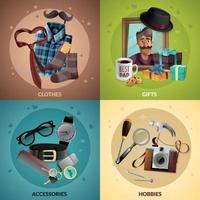 ilustração em vetor conceito design dia dos pais