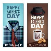 ilustração em vetor banners do dia dos pais