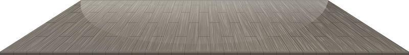piso de ladrilho de madeira cinza isolado no fundo branco vetor
