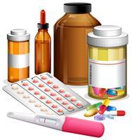 Vários medicenes e medicamentos vetor