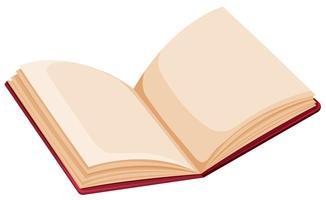 Abra o livro no fundo branco vetor
