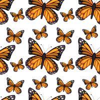 Projeto de plano de fundo sem emenda com borboletas