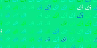 textura leve luz multicolor com símbolos dos direitos das mulheres. vetor