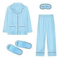 ilustração em vetor conjunto realista de pijamas