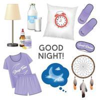 boa noite ilustração em vetor conceito design realista