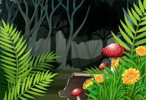 Noite na floresta vetor