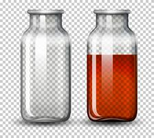 Conjunto de água em garrafa vetor