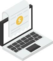conceitos de contas online vetor