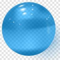 bola de vidro transparente azul esfera azul realista vetor
