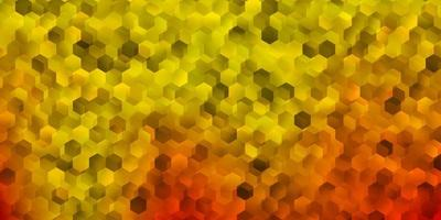 de fundo vector laranja claro com formas hexagonais.
