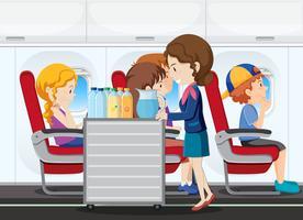 Um serviço no avião vetor