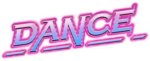 Um logotipo de dança no fundo branco vetor