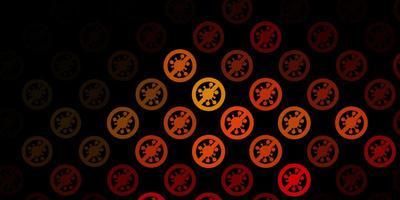modelo de vetor laranja escuro com sinais de gripe.