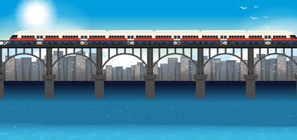 Transporte urbano de trem moderno vetor