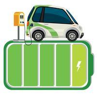 Carrinho de bateria de carro elétrico vetor