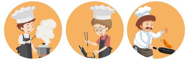 Um conjunto de chef internacional vetor