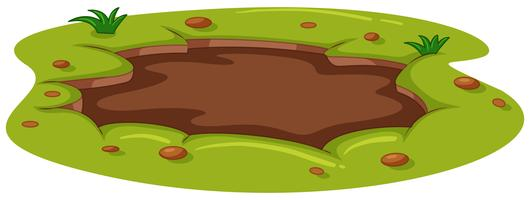 Poça de lama no chão vetor
