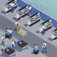 ilustração vetorial de fundo de maquinaria industrial vetor