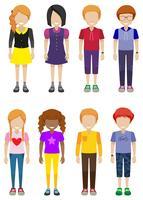 Adolescentes sem rosto vetor