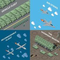 ilustração em vetor conceito design 2x2 veículos militares