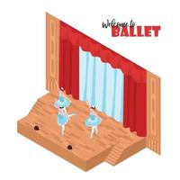 ilustração em vetor conceito isométrico teatro