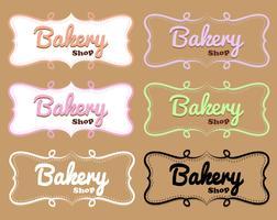 Etiqueta de loja de padaria em projetos diferentes vetor