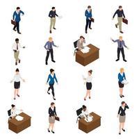 ilustração vetorial conjunto de ícones de empresários vetor