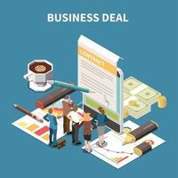 ilustração em vetor composição isométrica estratégia de negócios