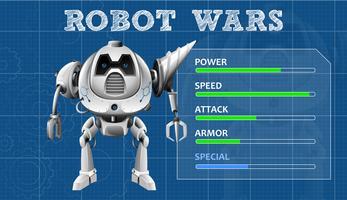 Um modelo de jogo moderno do robô vetor
