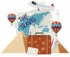 Hora de viajar ícone vetor