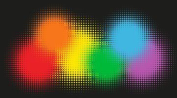 Cores do arco-íris no fundo vetor