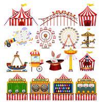 Conjunto de objetos de carnaval vetor